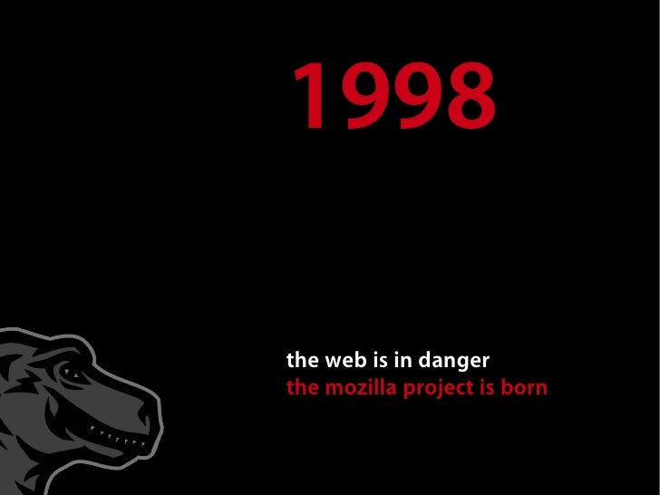 1998  the web is in danger the mozilla project is born