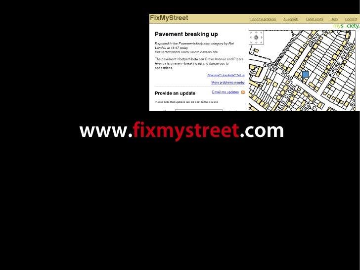 www.fixmystreet.com