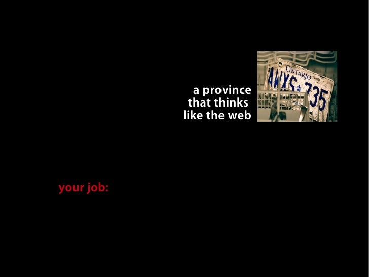we                           can make                          a province                         that thinks             ...