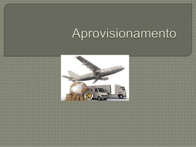 O aprovisionamento é um processo que abrange vários aspectos na relação entre fornecedores e empresa, constituindo um con...