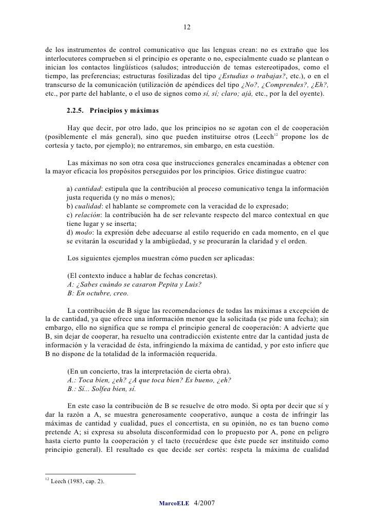 12  de los instrumentos de control comunicativo que las lenguas crean: no es extraño que los interlocutores comprueben si ...