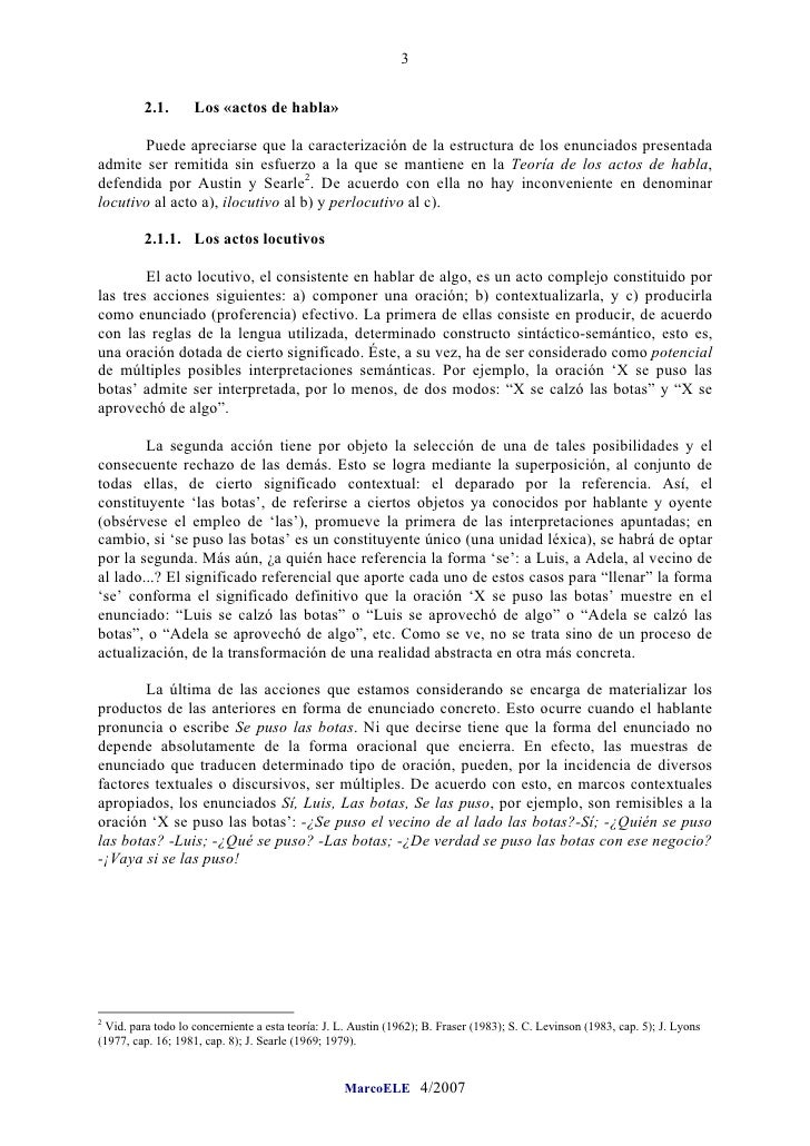 3            2.1.       Los «actos de habla»         Puede apreciarse que la caracterización de la estructura de los enunc...
