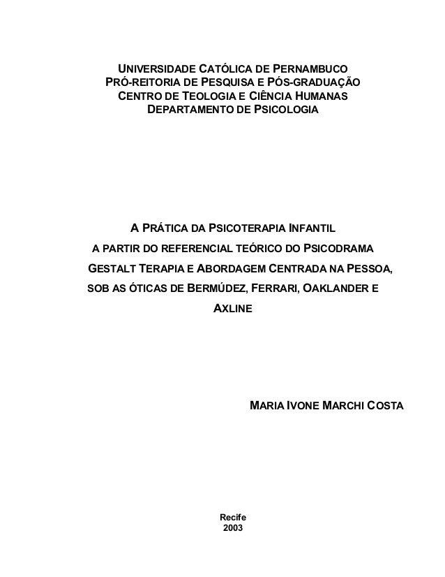 UNIVERSIDADE CATÓLICA DE PERNAMBUCO PRÓ-REITORIA DE PESQUISA E PÓS-GRADUAÇÃO CENTRO DE TEOLOGIA E CIÊNCIA HUMANAS DEPARTAM...