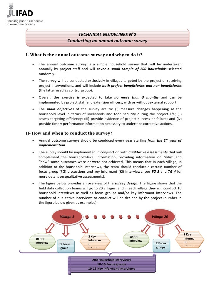TECHNICAL GUIDELINES No2                            Conducting an annual outcome survey  I- What is the annual outcome sur...