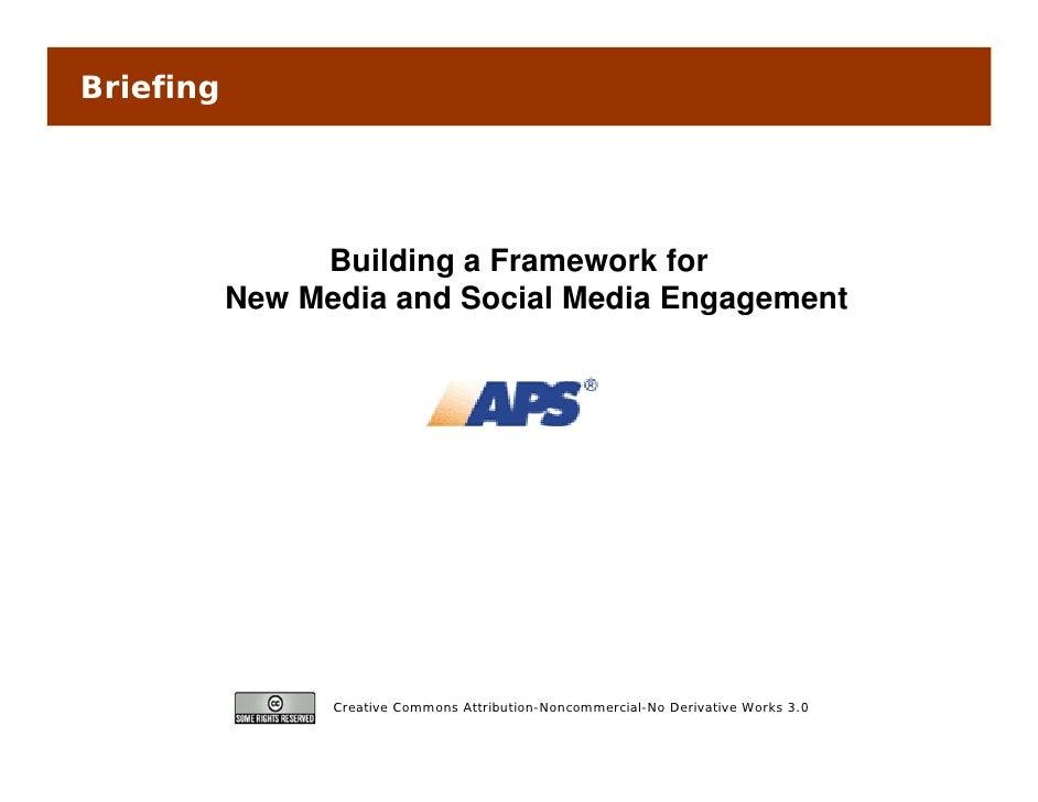 Briefing                     Building F                 B ildi a Framework for                                     kf     ...