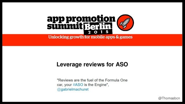 1 1 Leverage reviews for ASO @Thomasbcn