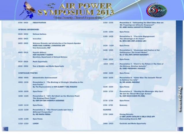 Air Power Symposium 2013 Programme