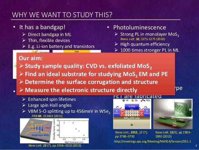 WHY WE WANT TO STUDY THIS? • Spin-orbit coupling • It has a bandgap! • Photoluminescence • WSe2: both p- and n- type FET a...