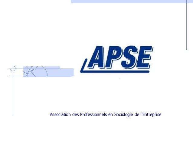 Association des Professionnels en Sociologie de l'Entreprise