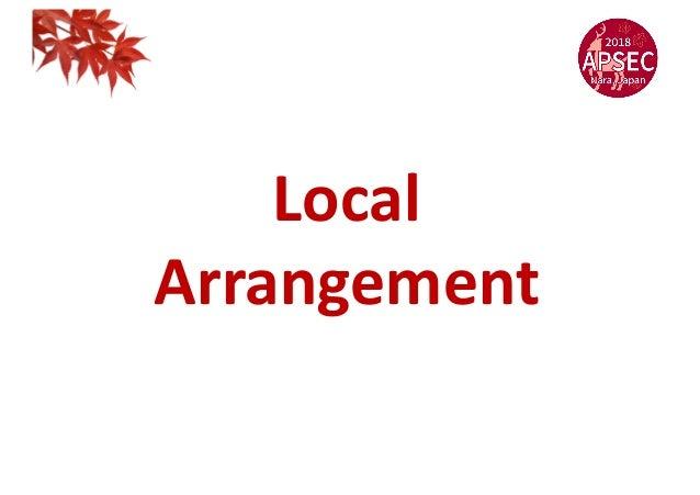 Local Arrangement