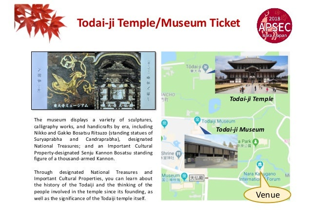 Todai-ji Temple/Museum Ticket The museum displays a variety of sculptures, calligraphy works, and handicrafts by era, incl...