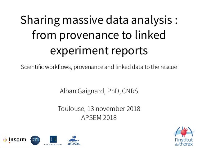 Sharing massive data analysis : 