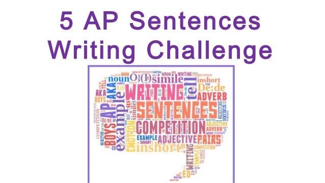 5 AP Sentences Writing Challenge
