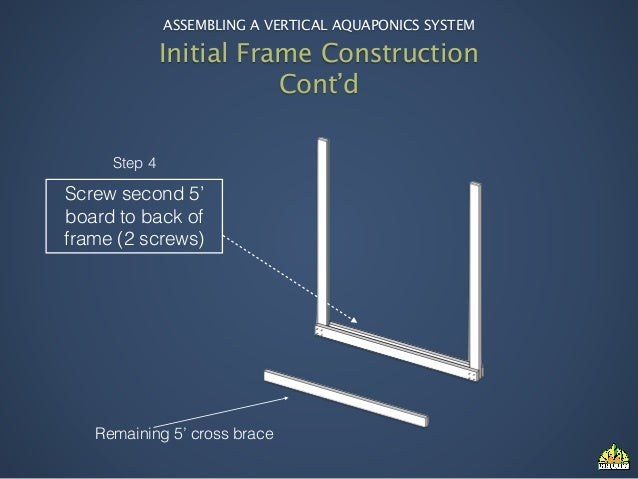 ... 6. ASSEMBLING A VERTICAL AQUAPONICS SYSTEM Initial Frame ...