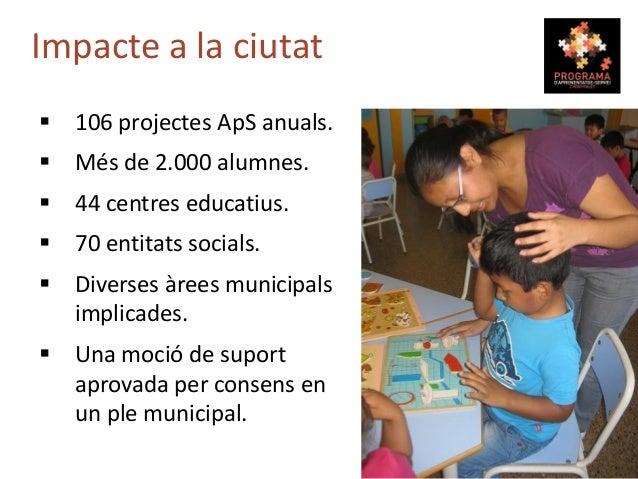 Exemples de gran absorció: A. Campanyes cíviques en general. B. Elaboració de materials per a entitats. C. Serveis 1 x 1, ...