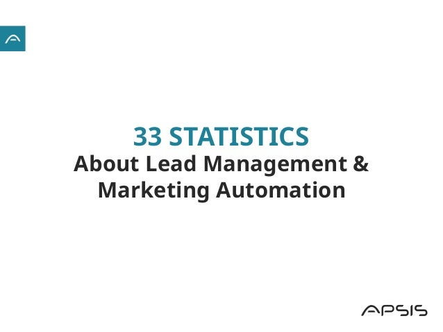 33 STATISTICS About Lead Management & Marketing Automation