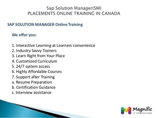 sap solution manager resume sap solution manager resume cv