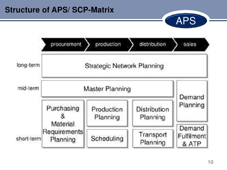Structure of APS/ SCP-Matrix                               APS                                     10