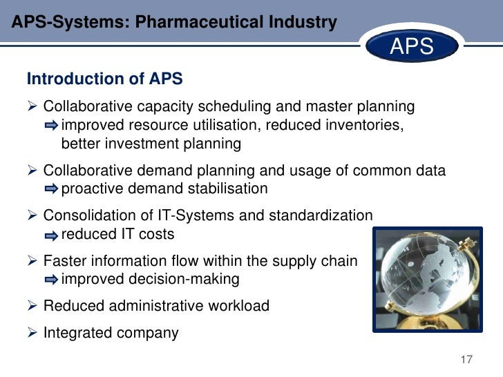 APS-Systems: Pharmaceutical Industry                                                     APS Introduction of APS  Collabo...
