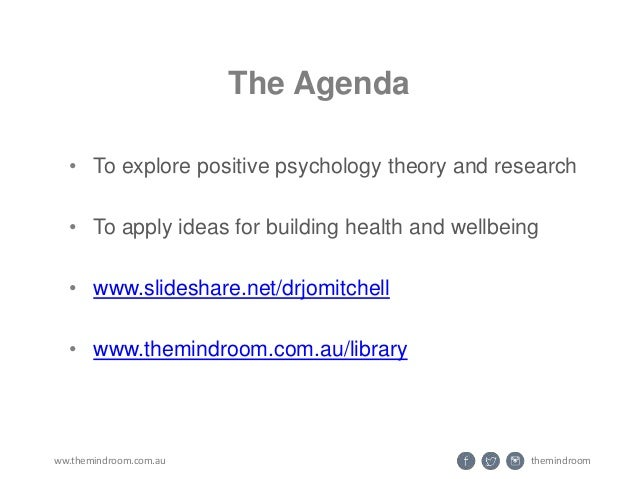 APS Positive Psychology #1 (intro to wellbeing science) Slide 2