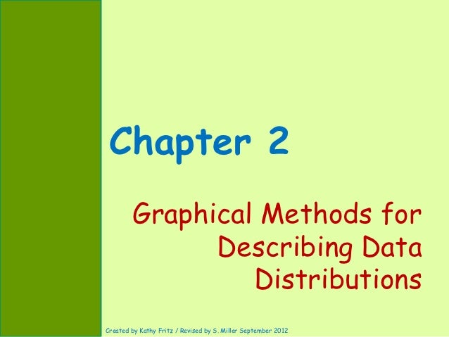 Chapter 2        Graphical Methods for              Describing Data                 DistributionsCreated by Kathy Fritz / ...