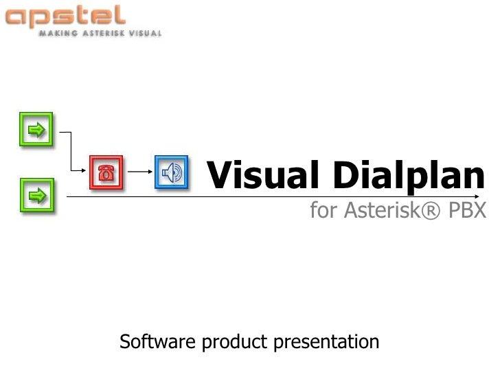 Visual Dialplan                      for Asterisk® PBX     Software product presentation