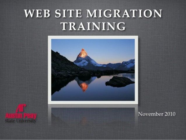 APSU Drupal Training - Personal Sites