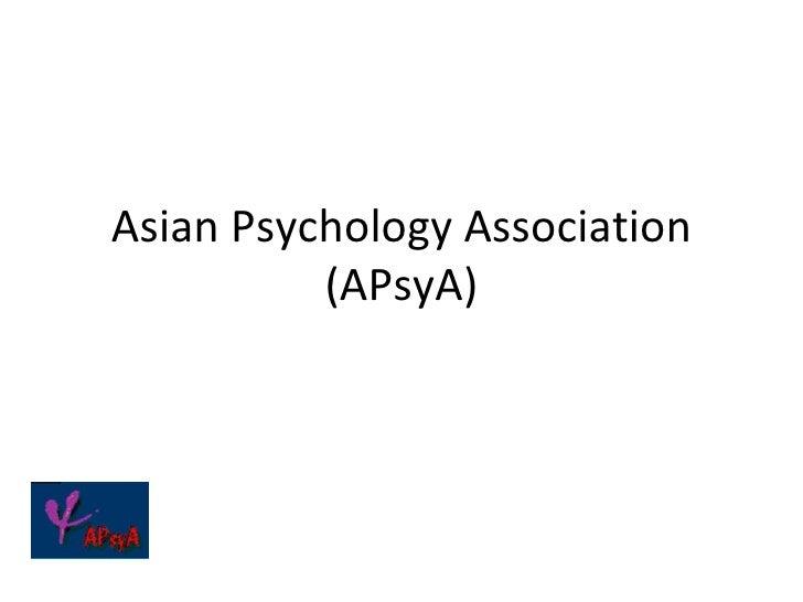 Asian psychology association