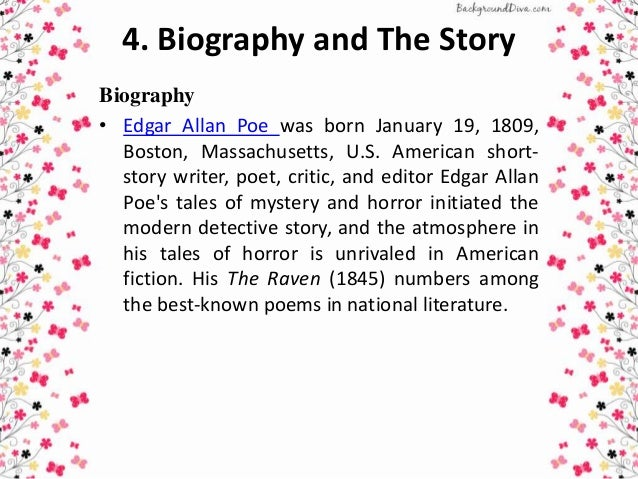 a research on edgar allan poe an american short story writer The short fiction of edgar allan poe:  american magazine journalists, 1741-1850 and dlb 74: american short-story writers  the american face of edgar poe .