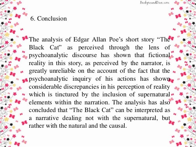 an analysis of the narrators unreliability in edgar allan poes short story the black cat Edgar allan poe's short story the tell-tale heart complementary and helpful to identify the unreliability of the narrator 1 introduction a narrative analysis of the unreliable narrator in edgar.