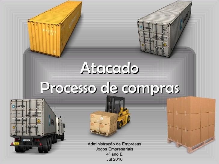 Atacado Processo de compras Administração de Empresas Jogos Empresariais 4º ano E Jul 2010
