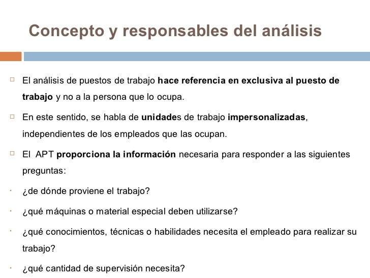 Analisis de Puestos de Trabajo Slide 2