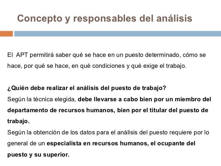 Analisis de Puestos de Trabajo Slide 3