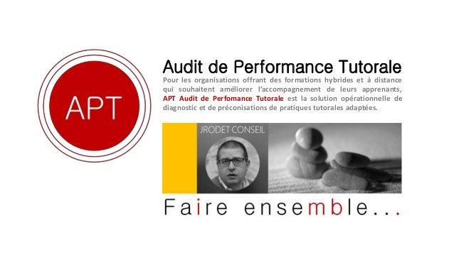 Audit de Performance Tutorale Pour les organisations offrant des formations hybrides et à distance qui souhaitent améliore...