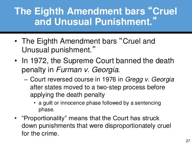 death penalty and the eighth amendment