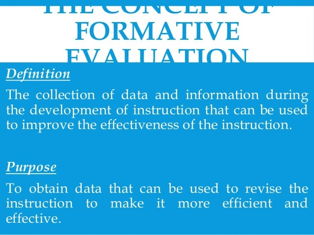 Chapter  Designing And Conducting Formative Evaluations