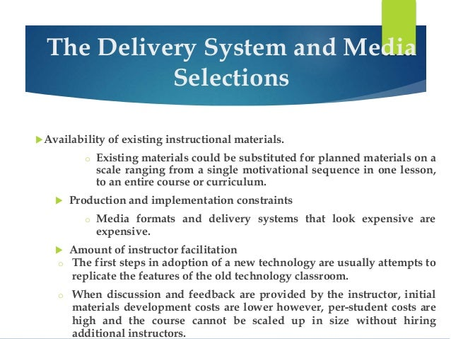 availability of instructional materials essay The primary focus of the community learning network (cln) is to help k-12 teachers integrate information technology into their classrooms this cln subject page provides access to curricular and instructional materials in the broad subject area of business education as well as in many of its specific themes/topics.