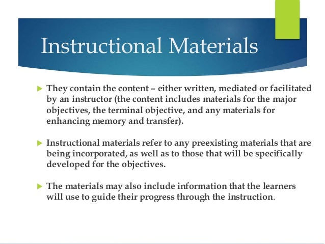 list of instructional materials in teaching