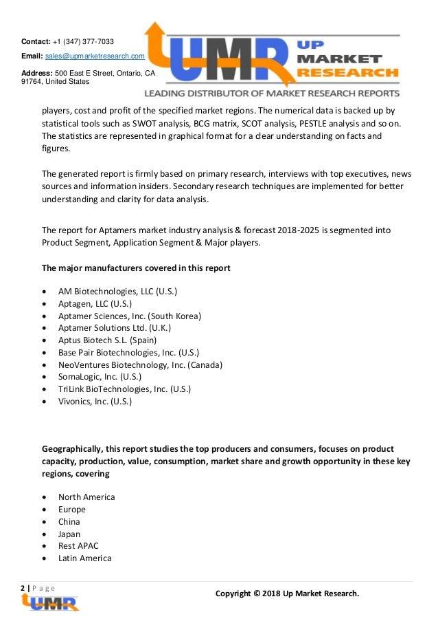 Aptamers Market Analysis Report By Key Players - AM Biotechnologies, …