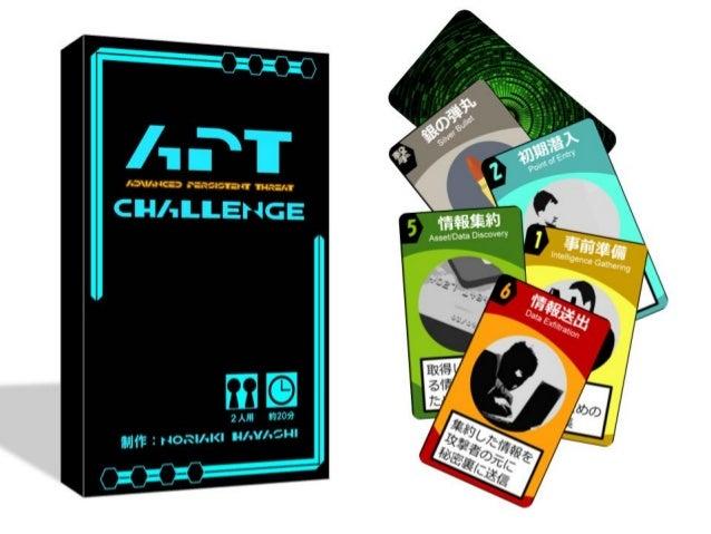 Advanced Persistent Threat Challenge v 3.4 QuickStart Guide (Japanese) - エーピーティーチャレンジ 日本語クイックスタートガイド