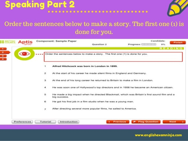 aptis reading part 2 sequencing