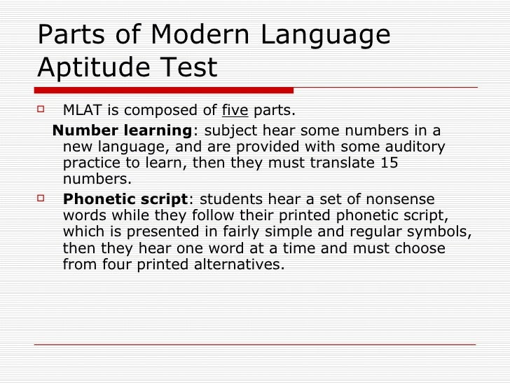 aptitude in sla Individual variation in second-language acquisition is the study of why some  tests of language aptitude have proven extremely effective in  (sla ) sla.
