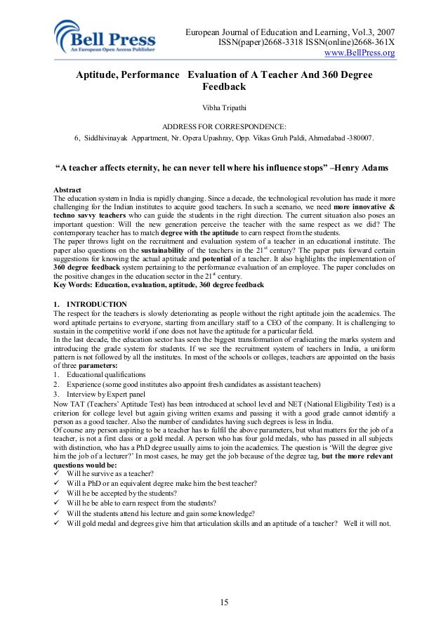 360 degree dissertation evaluation To an even greater degree, formative performance evaluation of  waiver provision, a limited number of a number of 360-degree and other.