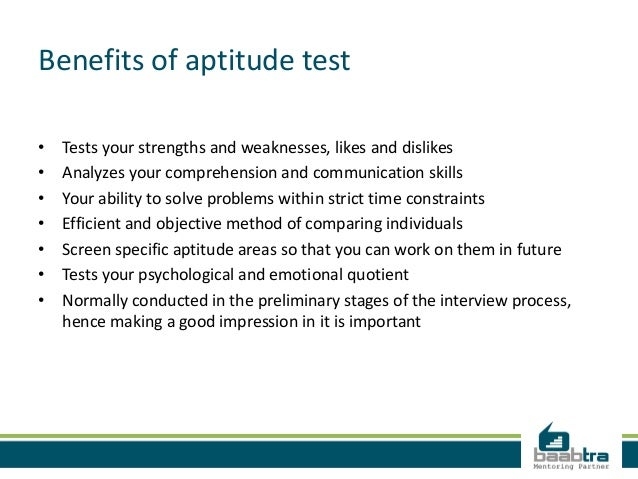 the benefits in reasoning aptitude testing Home psychometric glossary psychometric test types psychometric test types part two the format of a verbal reasoning tests involve reading a passage (formerly scholastic aptitude test / scholastic assessment test).