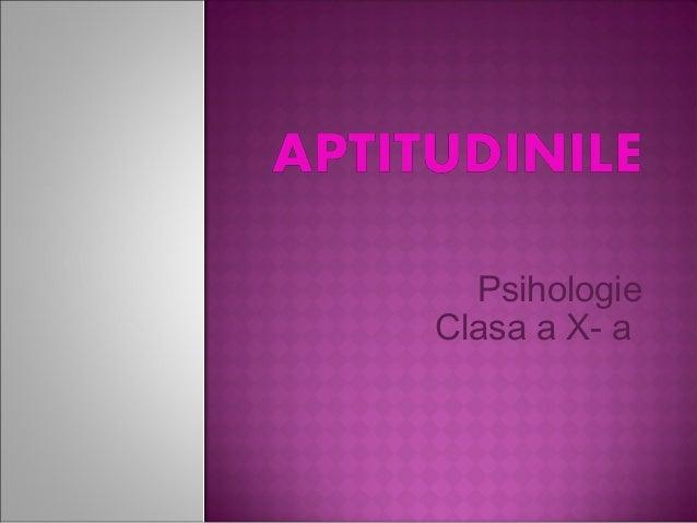 Psihologie Clasa a X- a