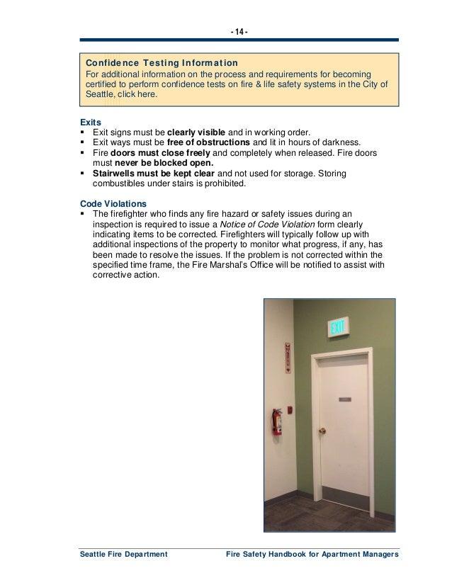 1 Fire Safety Handbook Seattle | Download PDF