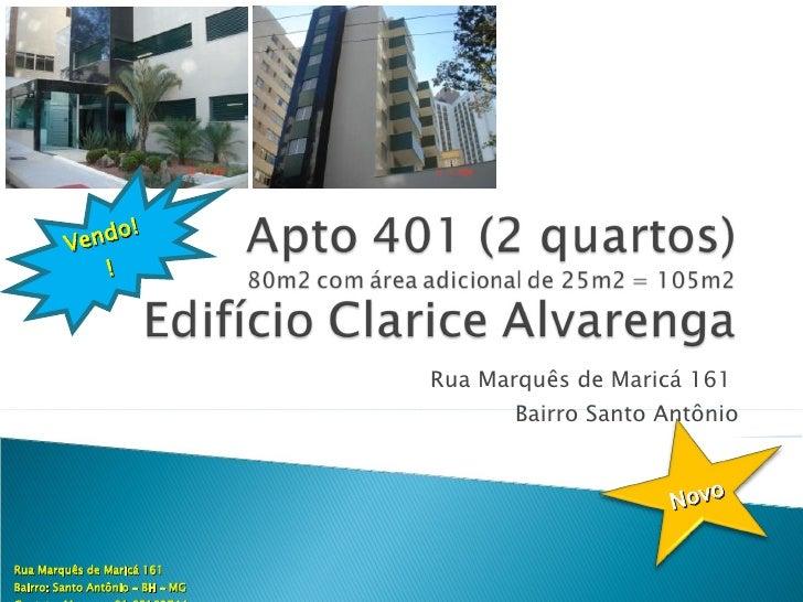 Rua Marquês de Maricá 161  Bairro Santo Antônio Vendo!! Novo