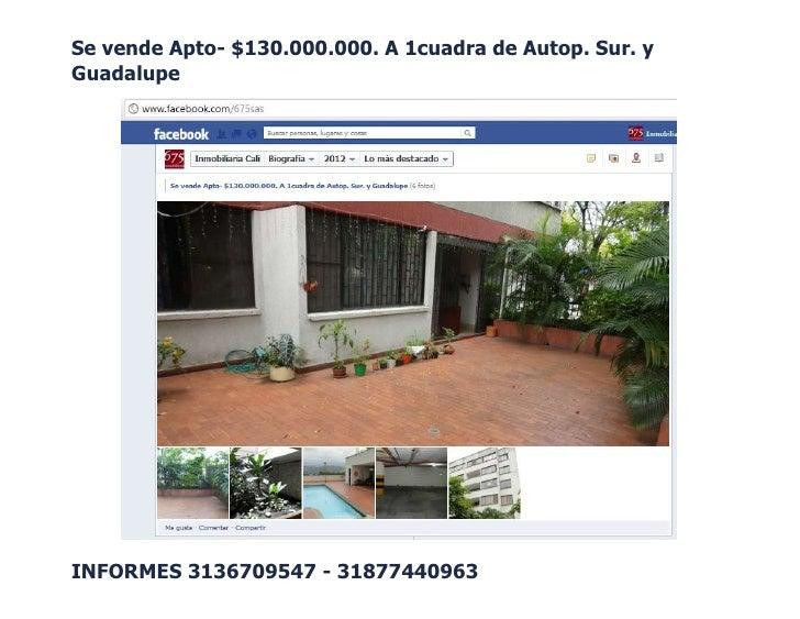 Se vende Apto- $130.000.000. A 1cuadra de Autop. Sur. yGuadalupeINFORMES 3136709547 - 31877440963