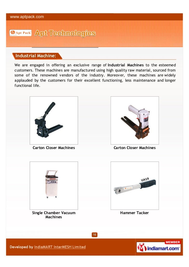 Industrial Machine:We are engaged in offering an exclusive range of Industrial Machines to the esteemedcustomers. These ma...