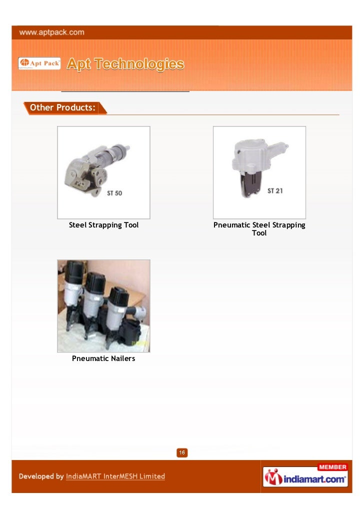 Other Products:        Steel Strapping Tool   Pneumatic Steel Strapping                                         Tool      ...